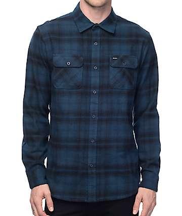 RVCA Standoff Navy Flannel Shirt