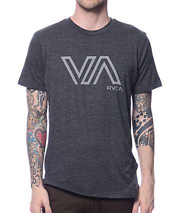 RVCA Stencil VA Grey T-Shirt