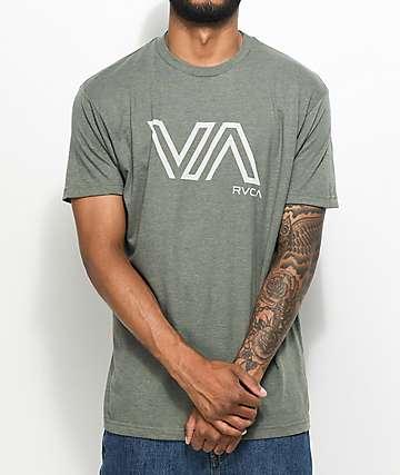 RVCA Stencil VA Olive T-Shirt