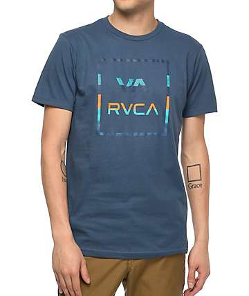 RVCA Stinger All The Way  Navy T-Shirt