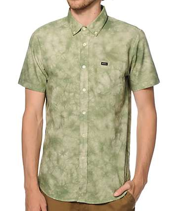 RVCA Thatll Do Tie Dye Button Up Shirt