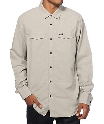 RVCA Timestamp Long Sleeve Button Up Shirt