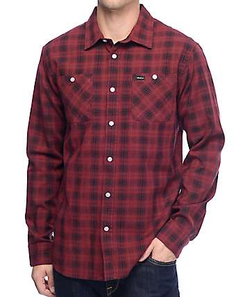 RVCA Trample Red & Black Flannel Shirt