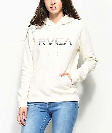 RVCA Tri Dot White Hoodie