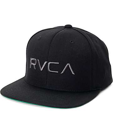 RVCA Twill Black Snapback Hat