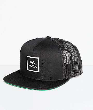 RVCA VA All The Way Black Trucker Hat