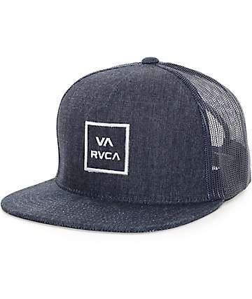 RVCA VA II All The Way Denim Trucker Hat