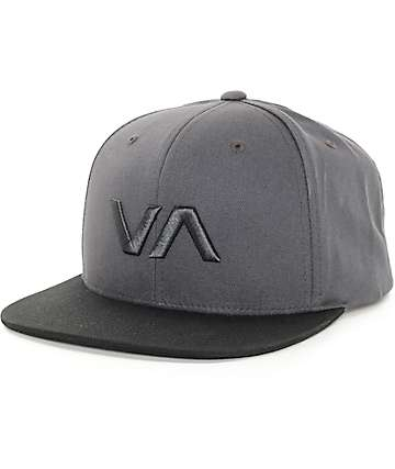 RVCA VA II Black & Grey Snapback Hat