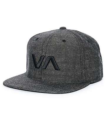 RVCA VA II gorra snapback de mezclilla negra