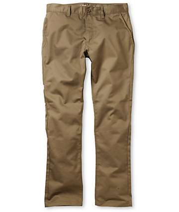 RVCA Week-End Slim Fit Khaki Chino Pants