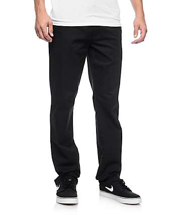 RVCA Weekend Stretch pantalones chinos en negro