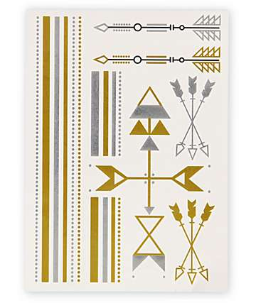 Rad Tatz Metallic Arrows Temporary Tattoos