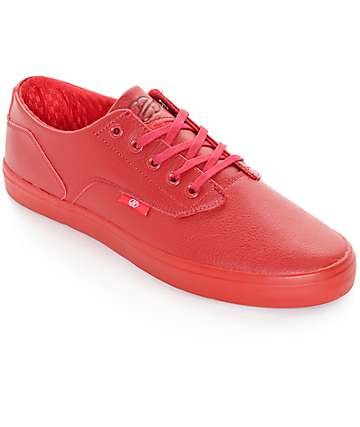 Radii Axel Triple Red Waxed Leather Skate Shoes