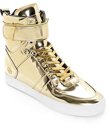 Radii Vertex Liquid Gold Leather Shoes
