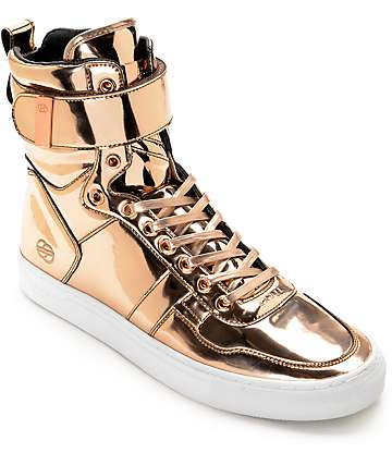 Radii Vertex Liquid Rose Gold Leather Shoes