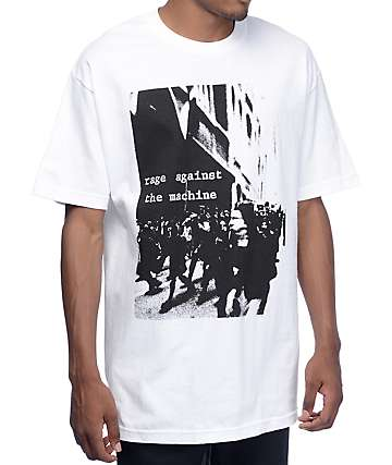 Rage Against The Machine Riot White T-Shirt