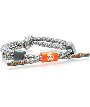 Rastaclat Beluga Grey & Orange Bracelet