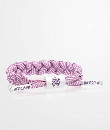 Rastaclat Classic Miniclat Rhodes Purple & White Bracelet