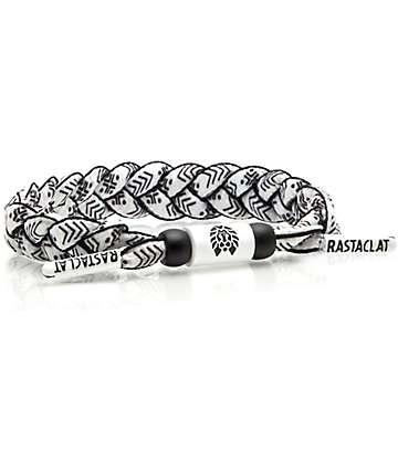 Rastaclat Classic Sensations pulsera en blanco y negro