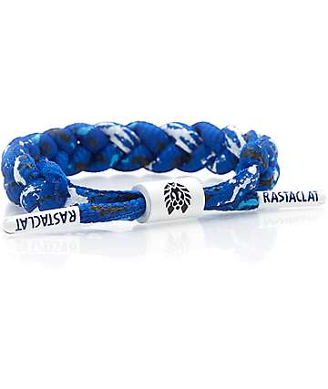 Rastaclat Classic Valiant pulsera en azul y blanco