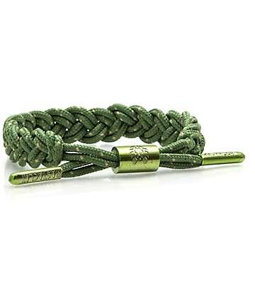 Rastaclat Cornice pulsera en verde y marrón