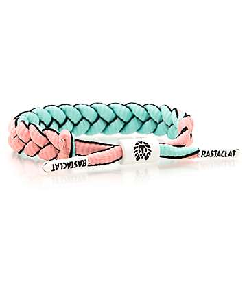 Rastaclat Crocket Pink & Mint Bracelet