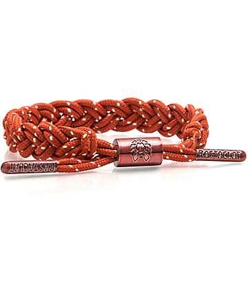 Rastaclat Crux Maroon & Tan Bi Cord Bracelet