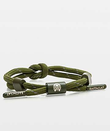 Rastaclat Fir  Knotaclat Olive Bracelet