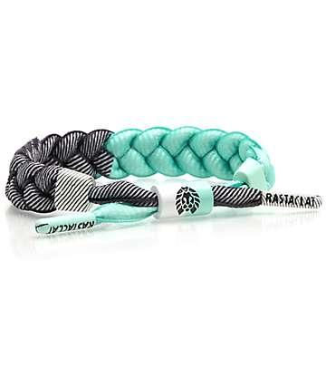 Rastaclat Julip Classic pulsera en verde azulado, blanco y negro