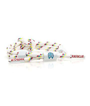 Rastaclat Knotaclat Primary White, Blue & Red Bracelet