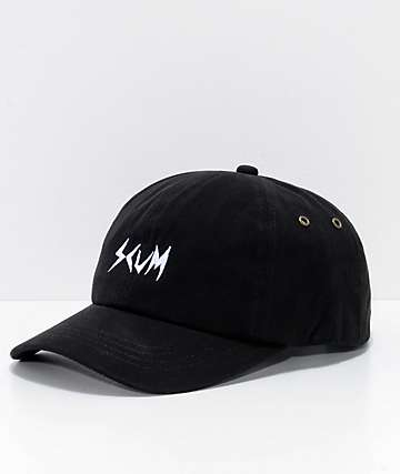 Rat Boy Scum Logo Black Strapback Hat