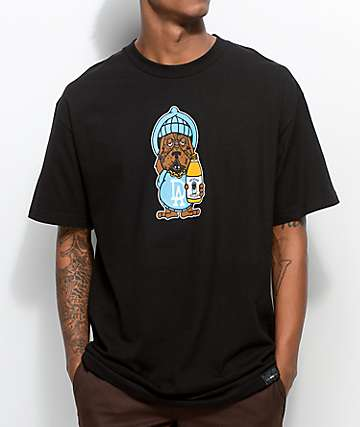 RawDogRaw 40 Oz. Dog Black T-Shirt
