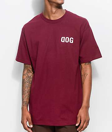 RawDogRaw Dog Burgundy T-Shirt