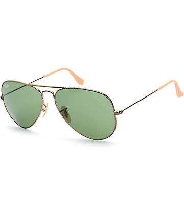 Ray-Ban Aviator Distressed Sunglasses