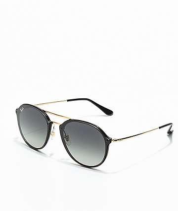Ray-Ban Blaze Double Bridge gafas de sol en negro y oro