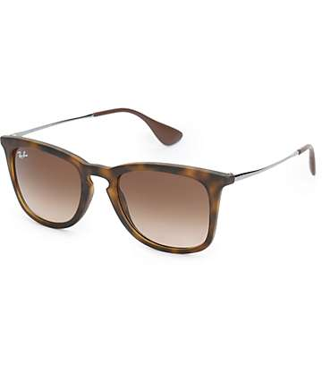 Ray-Ban Chris Matte Havana Sunglasses