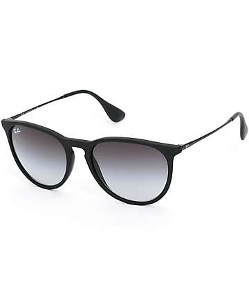 Ray-Ban Erika Black Rubber Grey Gradient Sunglasses