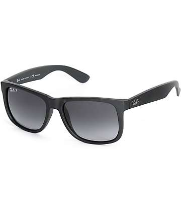 Ray-Ban Justin Black Rubber Polarized Sunglasses