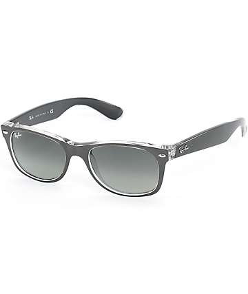 Ray-Ban New Wayfarer Gunmetal Translucent Sunglasses