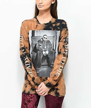 Ready To Die Bleached Black Long Sleeve T-Shirt