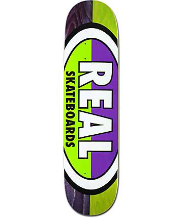 "Real 50⁄50 Oval 7.75"" Skateboard Deck"
