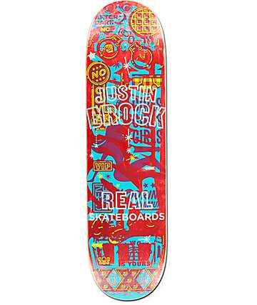 "Real Brock Overlay 8.5"" Skateboard Deck"