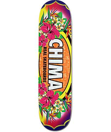 "Real Chima Floral Oval 7.75"" Skateboard Deck"