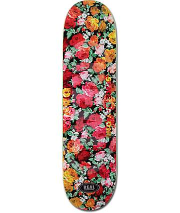 "Real Davis Floral Embossed 8.06"" Skateboard Deck"