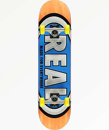 "Real Oval Mini 7.3"" Skateboard Complete"