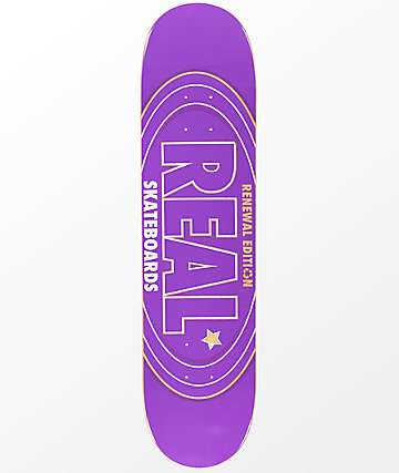 "Real Oval Renewal 7.56"" Skateboard Deck"