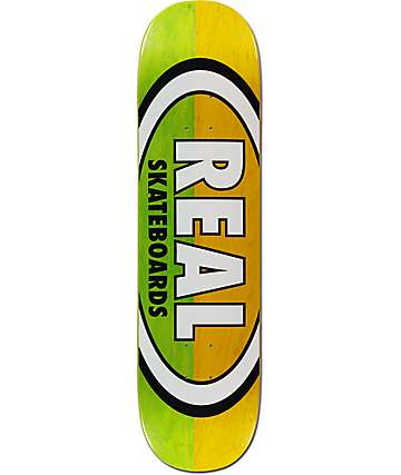 "Real Team Two Tone Oval 8.25""  Skateboard Deck"