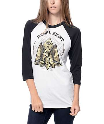 Rebel 8 Fate For None Baseball T-Shirt