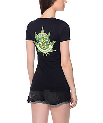 Rebel 8 Leaf V-Neck T-Shirt