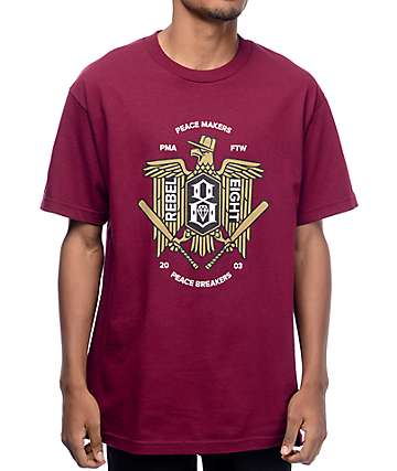 Rebel 8 Makers & Breakers Maroon T-Shirt